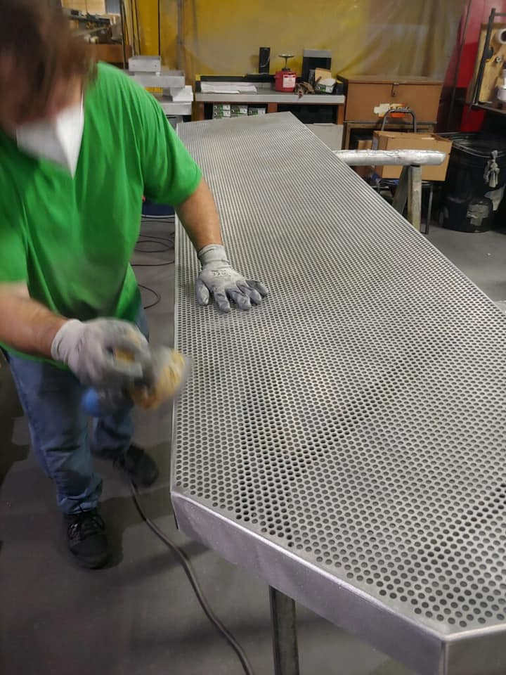 perforated panels in process